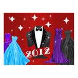 2012 de Noche Vieja la invitación de la gala Invitación 16,5 X 22,2 Cm