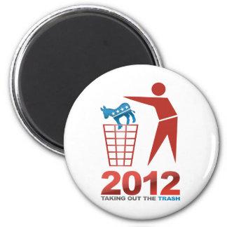 2012 Dems de la basura Imán Redondo 5 Cm