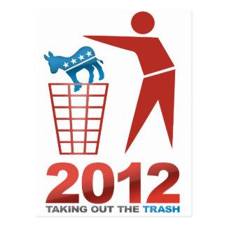 2012 Dems de la basura Tarjeta Postal