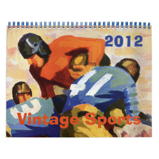2012 deportes del vintage, baloncesto del béisbol  calendario