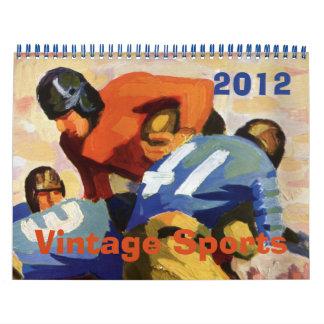2012 deportes del vintage baloncesto del béisbol calendario