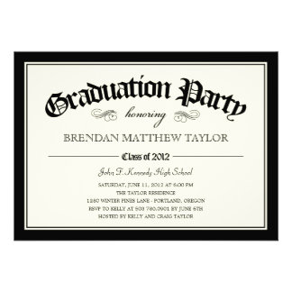 2012 Diploma Graduation Party Invitation Personalized Invitation