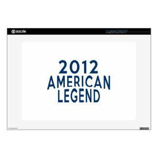 2012 diseños del cumpleaños de la leyenda del portátil 38,1cm skins