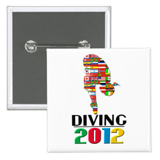 2012: Diving Pinback Button