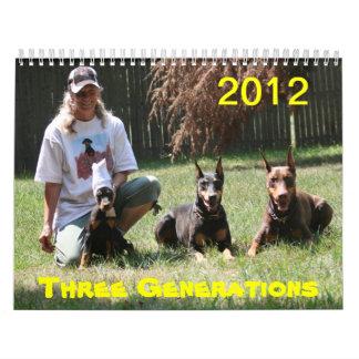 2012 Doberman Calendar  Again