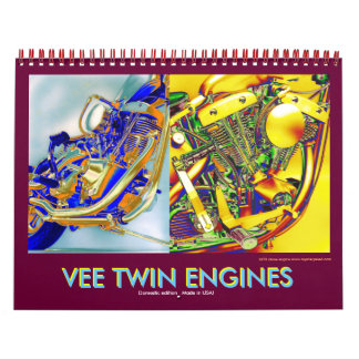 2012 Domestic Vee-Twin Motorcycle Engines Calendar
