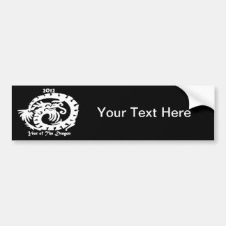 2012 Dragon Celebrating Chinese New Year Bumper Stickers