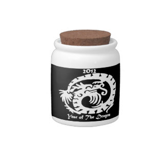 2012 Dragon Celebrating Chinese New Year Candy Jar