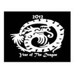 2012 Dragon Celebrating Chinese New Year Postcard