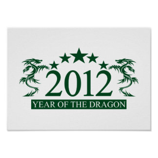 2012 DRAGON poster, customize Poster