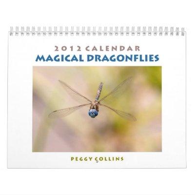 2012 Dragonfly Wall Calendar