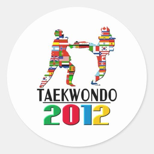 2012: El Taekwondo Pegatina Redonda