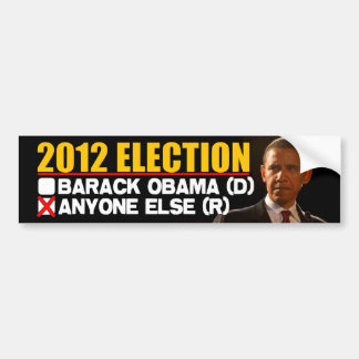 2012 Election - Anti Obama Bumper Stickers