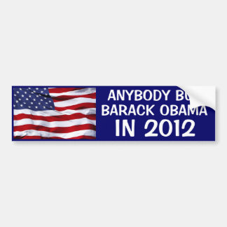 2012 ELECTION - ANYBODY BUT BARACK OBAMA IN 2012 CAR BUMPER STICKER