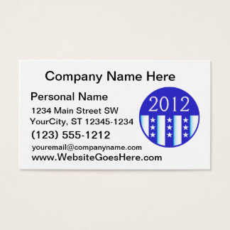 2012 election round seal blue version business card