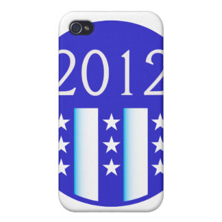 2012 election round seal blue version iPhone 4 cases