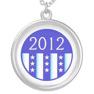 2012 election round seal blue version pendant