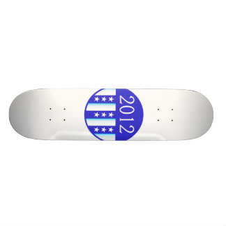 2012 election round seal blue version skateboards