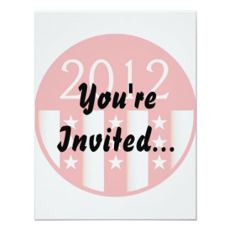2012 election round seal red version 4.25x5.5 paper invitation card