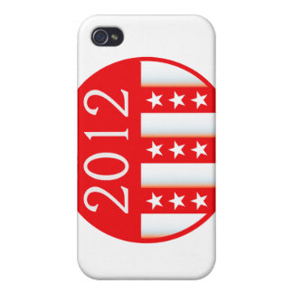 2012 election round seal red version cases for iPhone 4