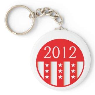 2012 election round seal red version keychain