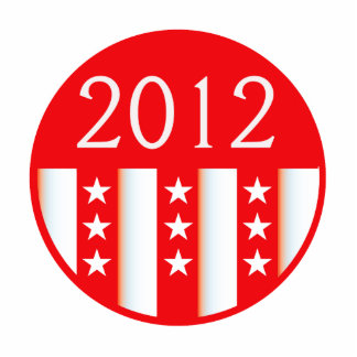 2012 election round seal red version photo sculpture
