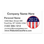 2012 election seal red and blue vote voting business card
