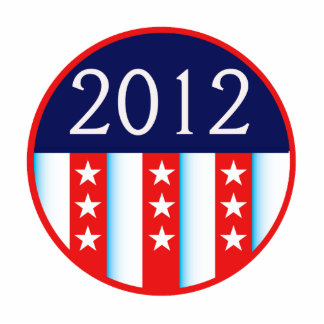 2012 election seal red and blue vote voting photo cutout