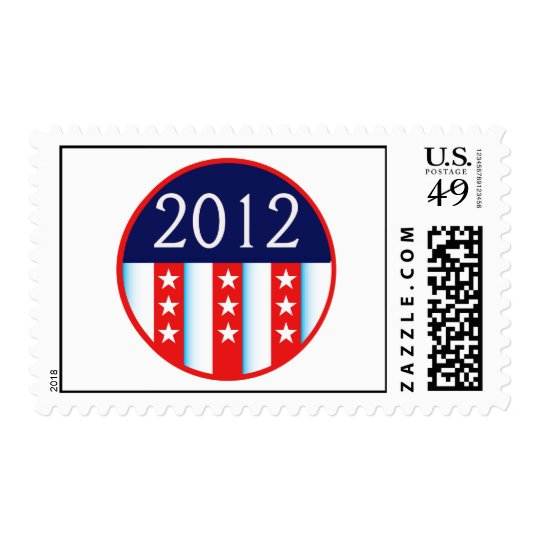 2012 election seal red and blue vote voting postage