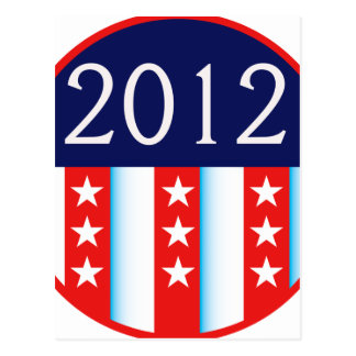 2012 election seal red and blue vote voting postcard
