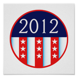 2012 election seal red and blue vote voting poster