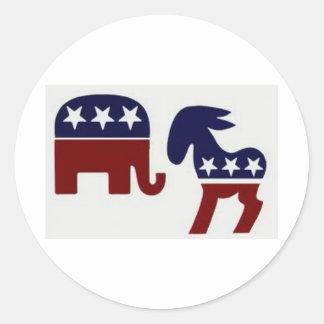 2012 Election Year Classic Round Sticker