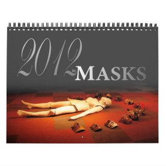2012 en máscaras calendario de pared