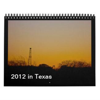 2012 en Tejas Calendario De Pared