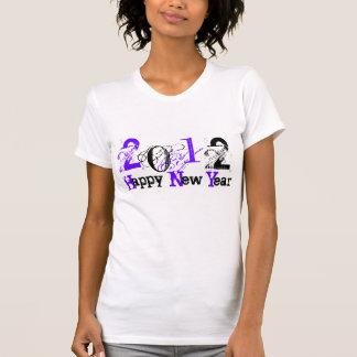 2012 Felices Año Nuevo de azul/negro - modificado Tshirts