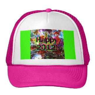 ¡2012 feliz! gorros bordados