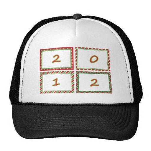 2012 festive New Year frames Trucker Hat