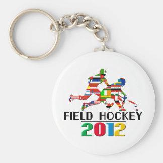 2012: Field Hockey Basic Round Button Keychain