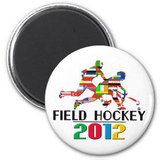 2012: Field Hockey 2 Inch Round Magnet