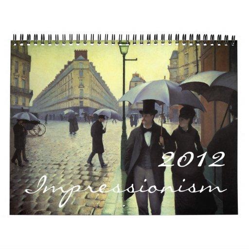 2012 Fine Art Impressionism Calendar