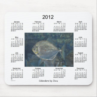 2012 Fish Calendar Mouse Pad