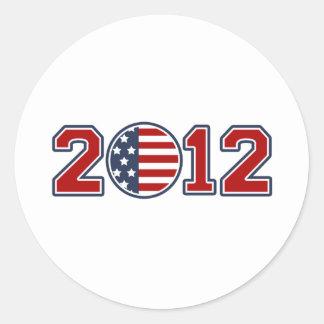 2012 Flag USA Games Classic Round Sticker
