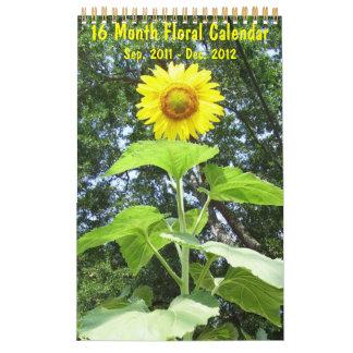 2012 - Floral Calendar - 16 Month