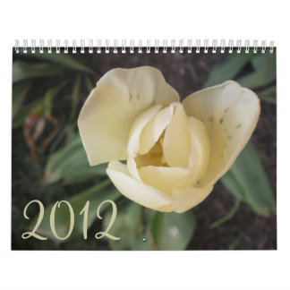 2012 flores calendario de pared