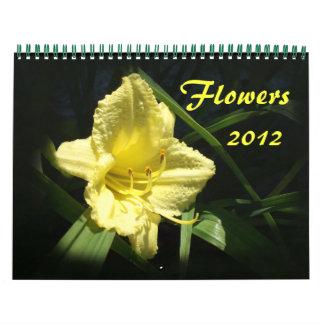 2012 Flowers Calendar