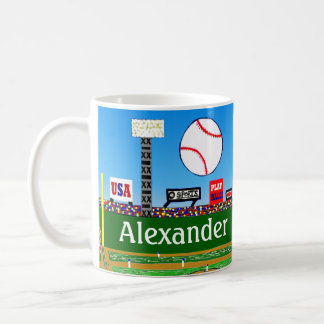 2012 Fun Personalized Baseball Mug Boy Sports Gift