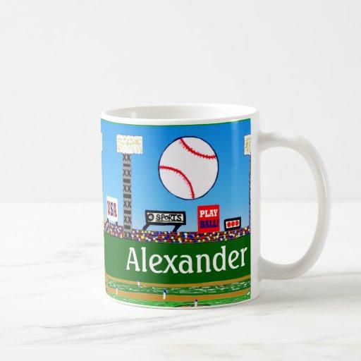2012 Fun Personalized Baseball Mug Boy Sports Gift