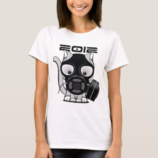 2012 Gas Mask Cat T-Shirt