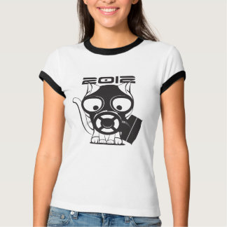 2012 Gas Mask Cat White T-Shirt
