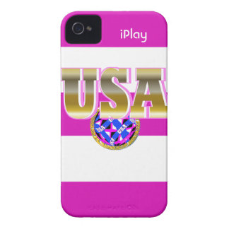 2012 Gold USA Womens Soccer Pink iPhone Case Gift Case-Mate iPhone 4 Case